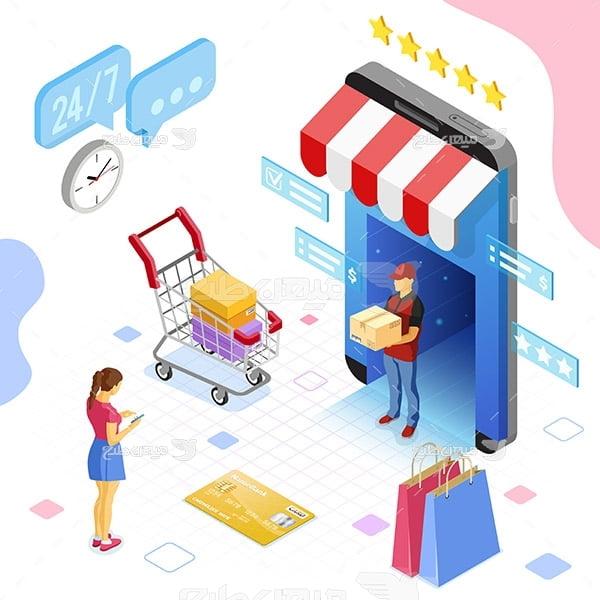 وکتور اسلایدر وب و فروشگاه