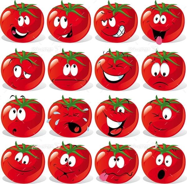 وکتور کارکتر گوجه فرنگی