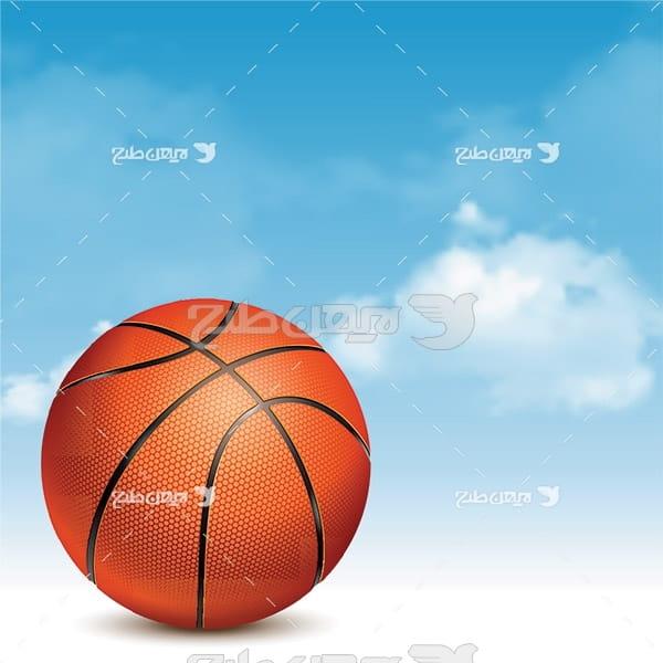 وکتور توپ بسکتبال