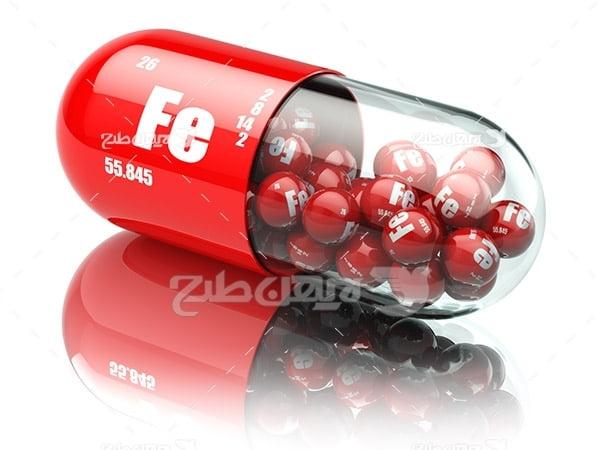 عکس کپسول دارویی قرمز