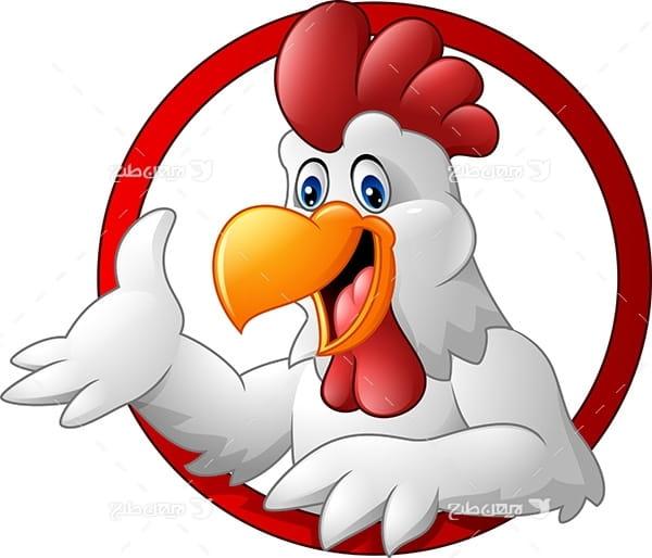 طرح گرافیکی وکتور مرغ
