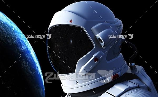 عکس فضانورد