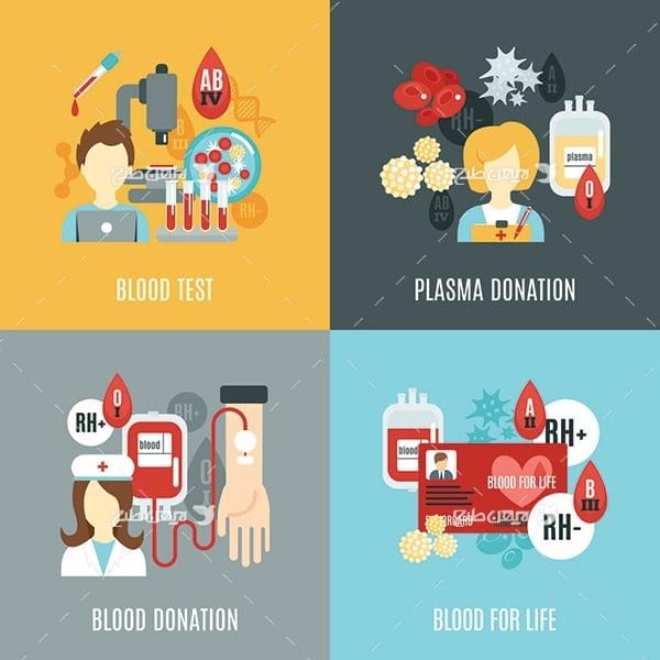 طرح وکتور احدای خون
