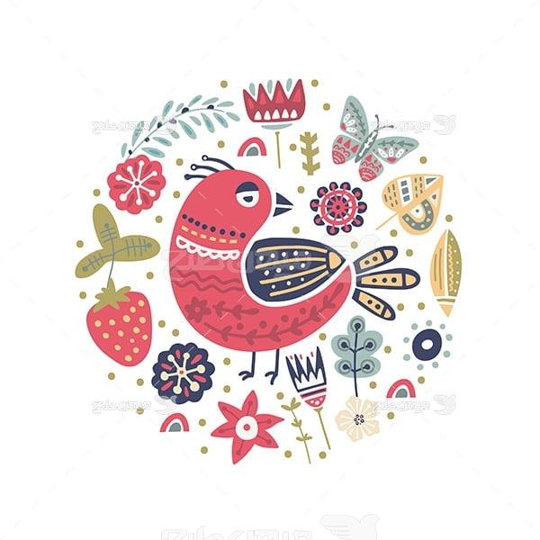وکتور پرنده