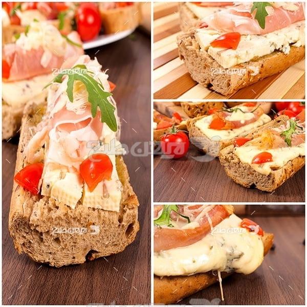 تصویر با کیفیت از ساندویچ پنیر