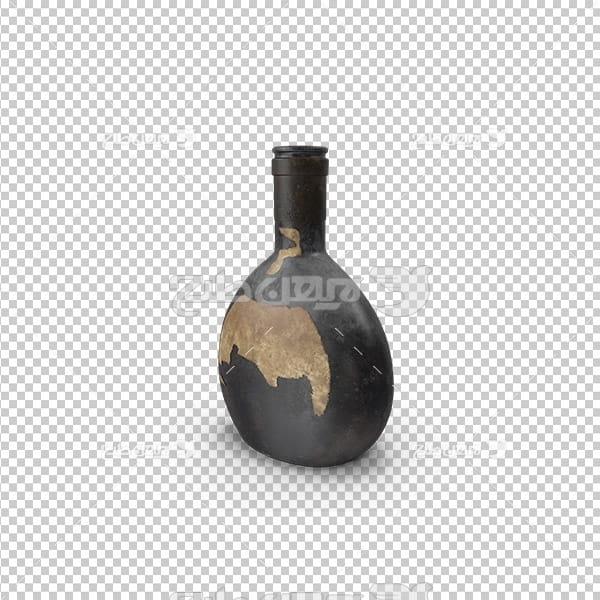 تصویر دوربری سه بعدی ظرف نوشیدنی قدیمی