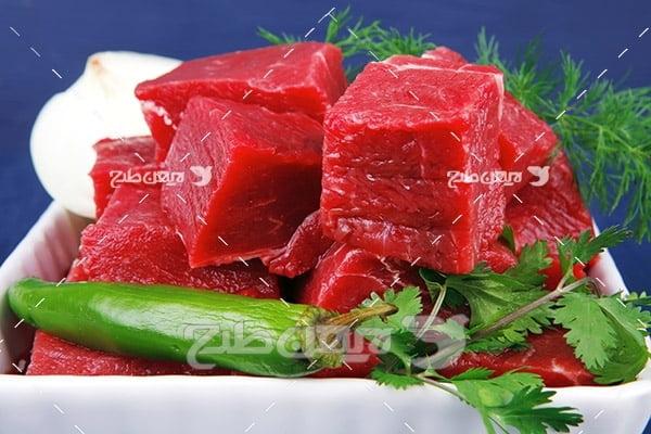 عکس گوشت ماهی بریده شده