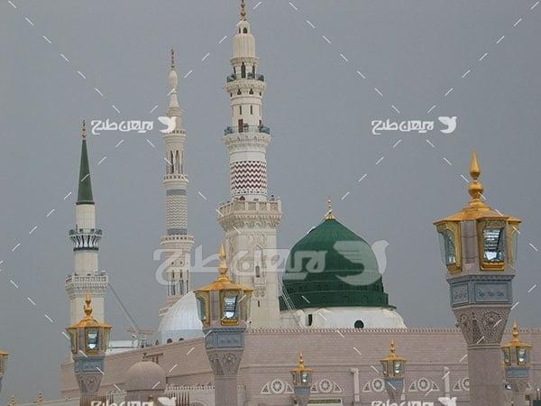 عکس گنبد سبز پیامبر اسلام حضرت محمد (ص)