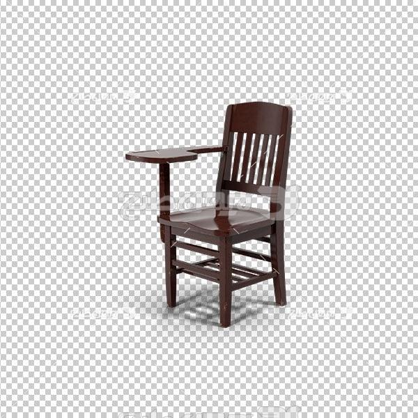 تصویر پی ان جی دوربری صندلی چوبی