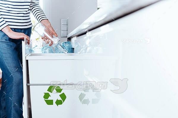 تصویر بازیافت ظروف پلاستیکی