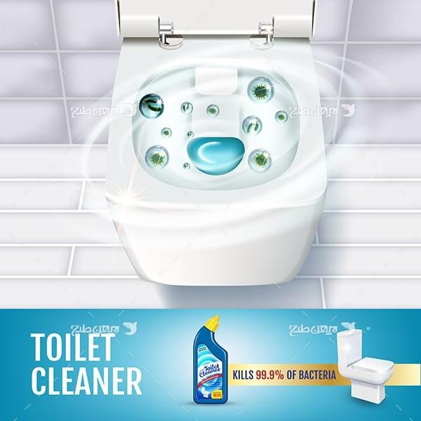 طرح وکتور تبلیغ مایع دستشویی و توالت