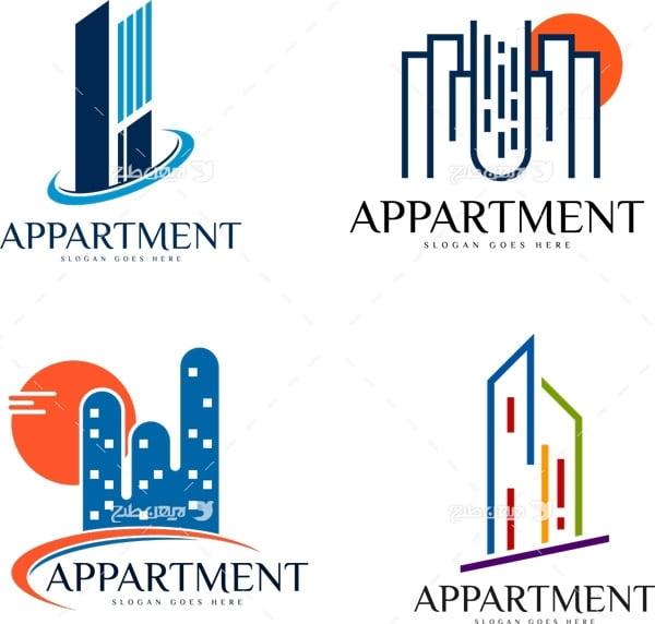 طرح لوگو ساختمان و آپارتمان