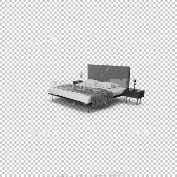 تصویر سه بعدی دوربری تخت خواب