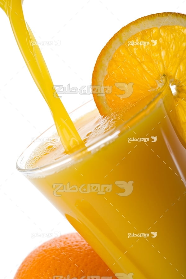 عکس میوه و اب پرتقال