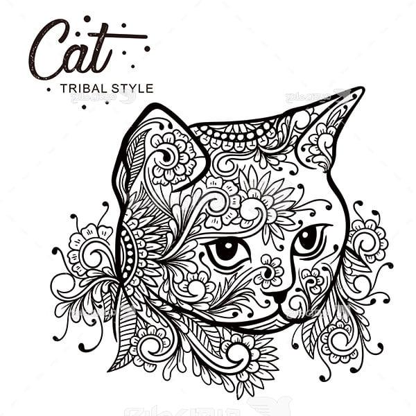 وکتور گربه