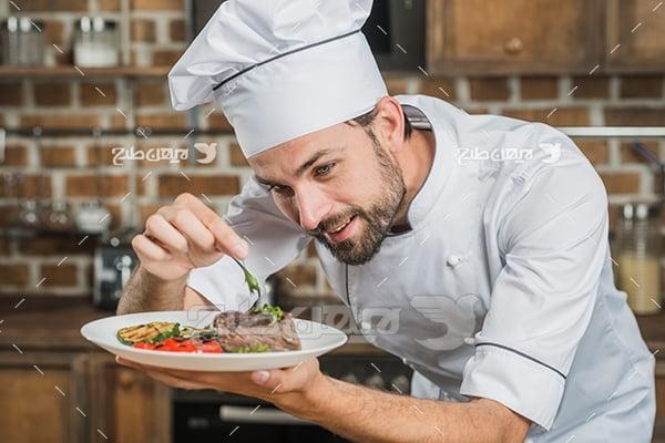 عکس آشپز مرد