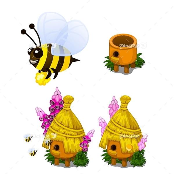 طرح گرافیکی وکتور زنبور عسل