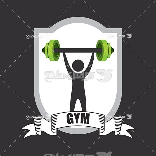 وکتور ورزش وزنه برداری