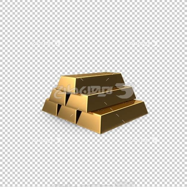 تصویر سه بعدی دوربری شمش طلا