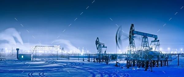 تصویر صنعتی از برداشت نفت