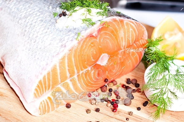ماهی،گوشت ماهی,غذای ماهی سبزیجات لیمو