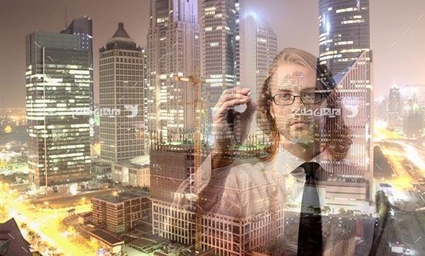 تصویر انسان و ساختمان