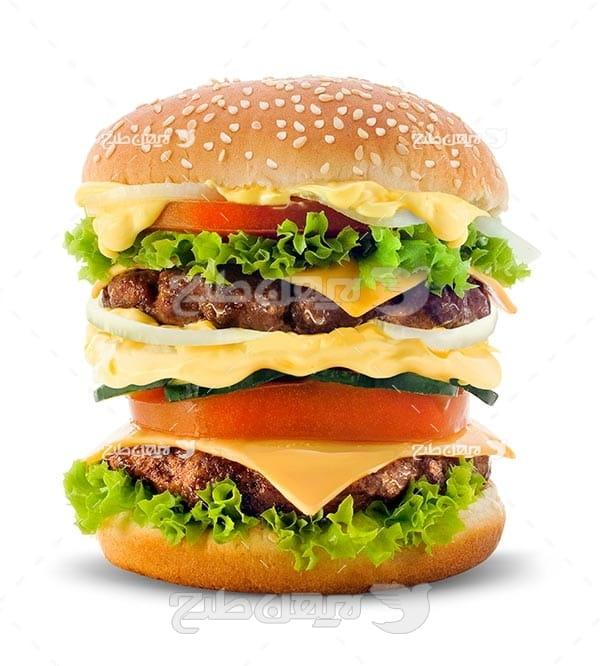تصویر با کیفیت از همبرگر