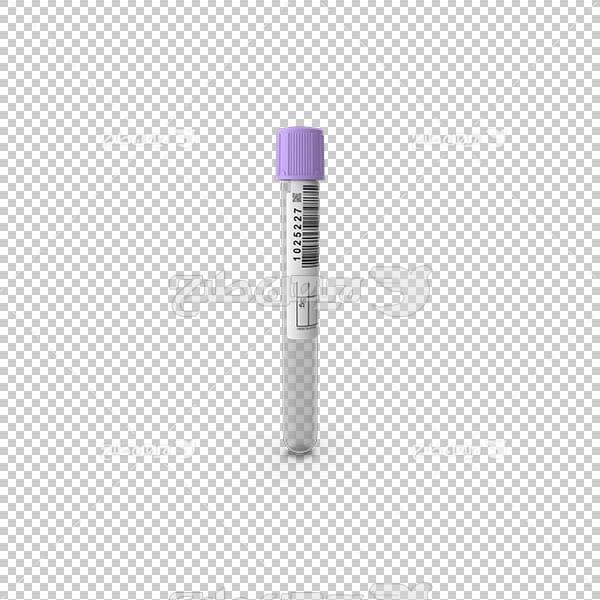 تصویر سه بعدی دوربری بطری آزمایش خون
