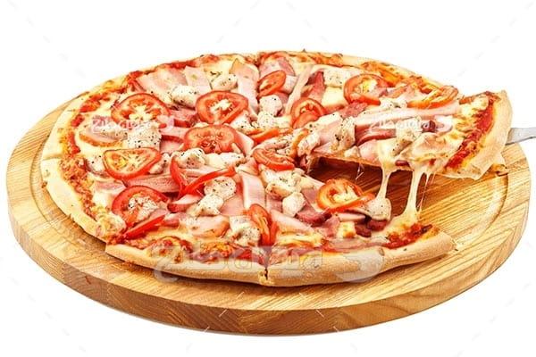 تصویر با کیفیت از پیتزا گوشت
