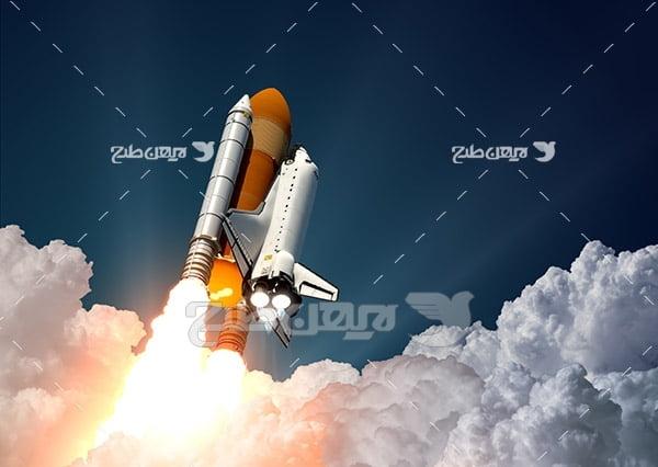 عکس پرتاب موشک به فضا