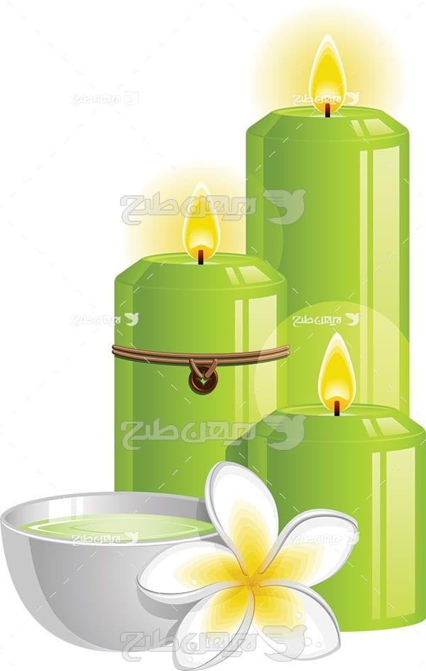 وکتور آرایشی و شمع