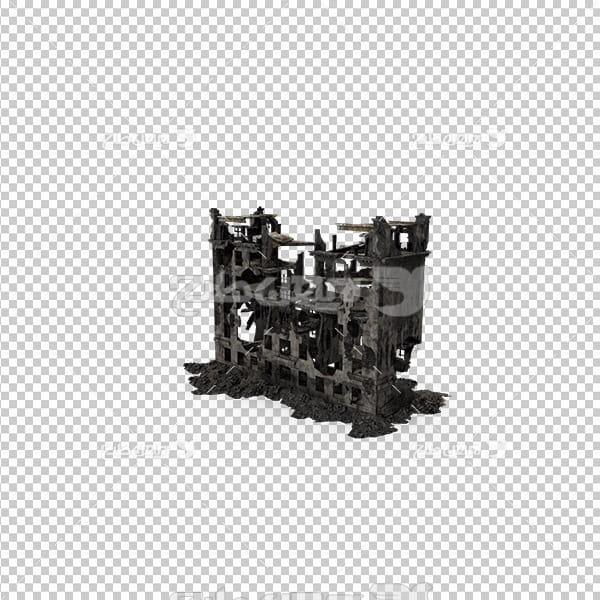 تصویردوربری سه بعدی ساختمان سوخته