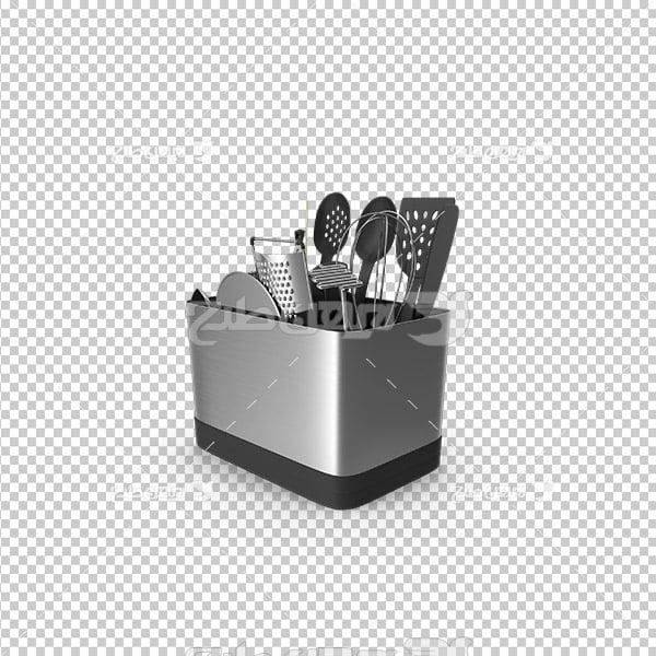 تصویر دوربری سه بعدی سرویس قاشق