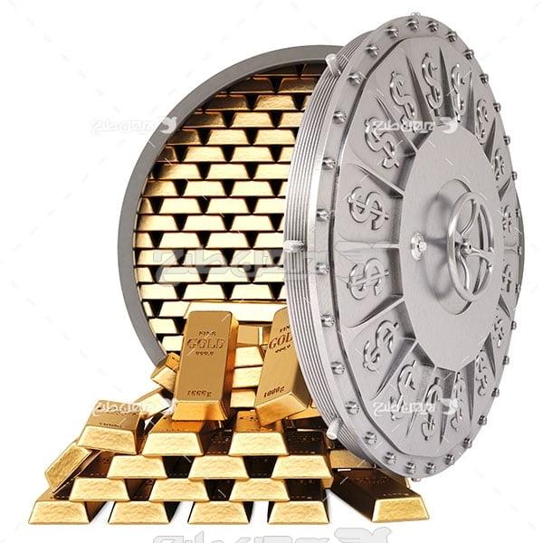 گاو صندوق و شمش طلا