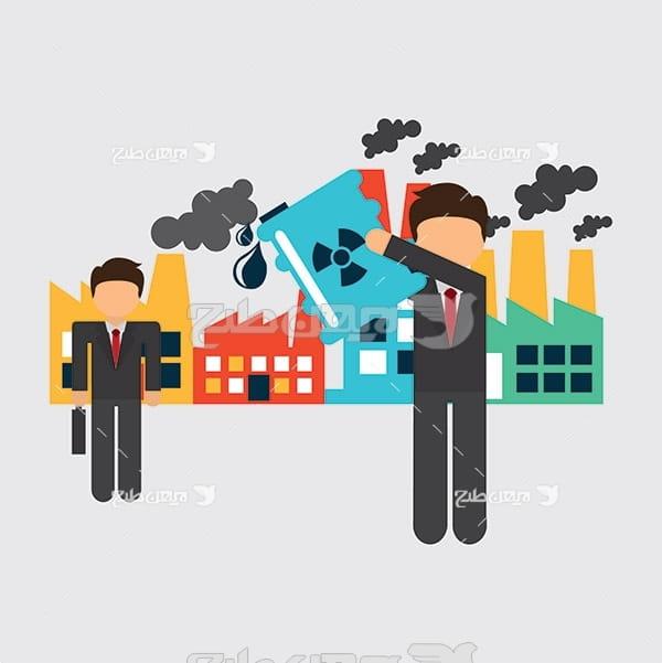 وکتور آلاینده های صنعتی