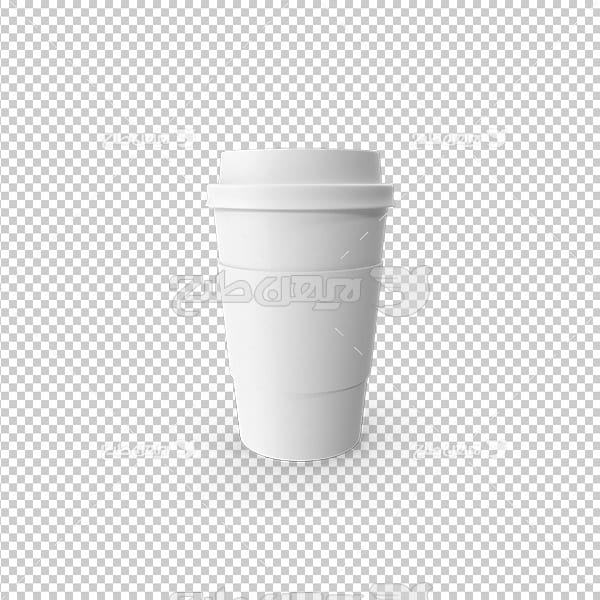 تصویر دوربری سه بعدی لیوان یکبار مصرف