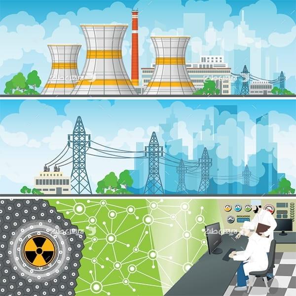 طرح وکتور کارخانه های صنعتی