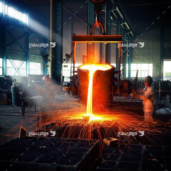 تصویر صنعتی از کاخانه فولاد آهن