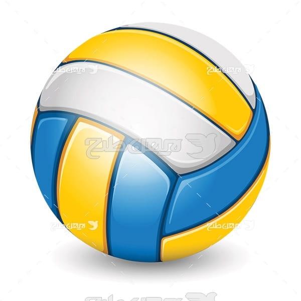 وکتور ورزش والیبال