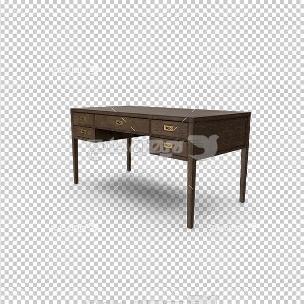دوربری میز چوبی