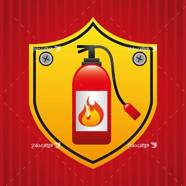 وکتور کپسول آتش نشانی