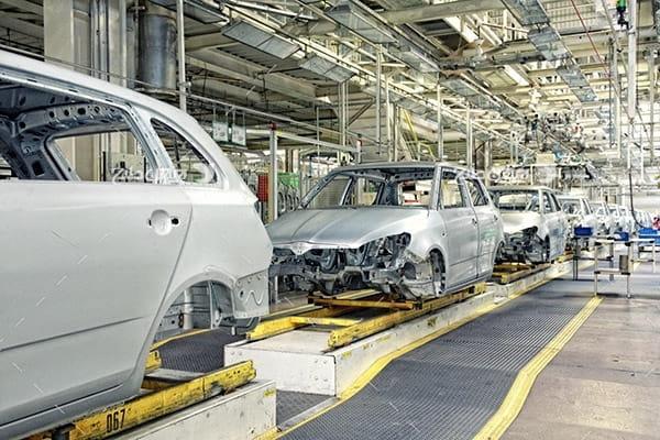 تصویر صنعتی از کارخانه ماشین و خودرو سازی