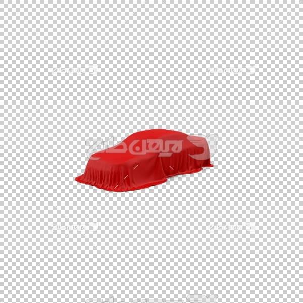 تصویر سه بعدی دوربری ماشین با روکش قرمز