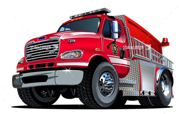 وکتور ماشین آتش نشانی و ایمنی