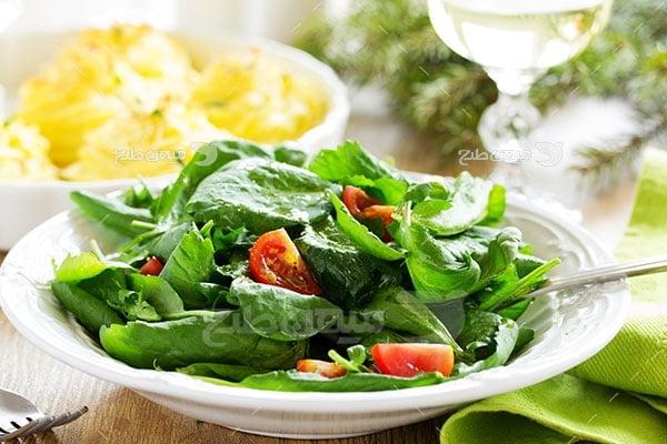 عکس تبلیغاتی بشقاب سبزیجات