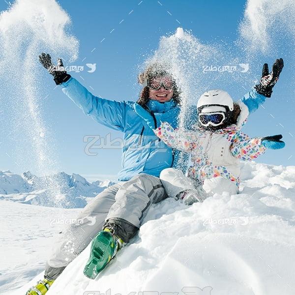 عکس برف بازی