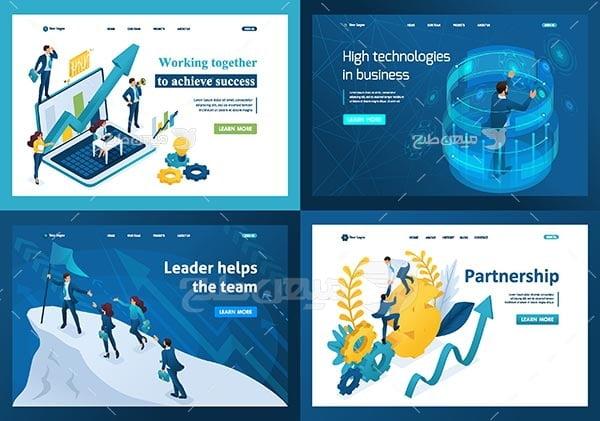 وکتور اسلایدر وب تجاری و پیشرفت