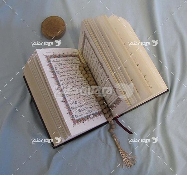 عکس قرآن و تسبیح و مهر