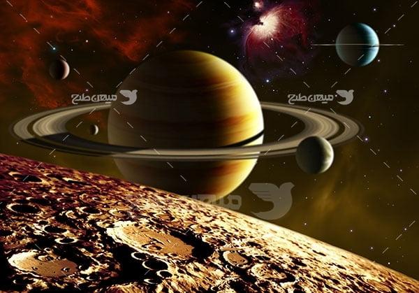 عکس خورشید و سیاره های منظومه شمسی
