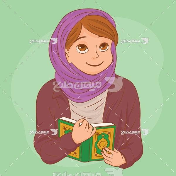 وکتور حجاب و قرآن